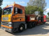 Transport kombajnów zbożowych, maszyn rolniczych, budowlanyc